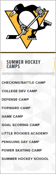 Pittsburgh Penguins Hockey Camps